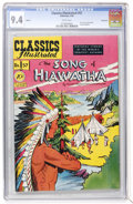 Golden Age (1938-1955):Classics Illustrated, Classics Illustrated #57 Song of Hiawatha - First Edition -Vancouver pedigree (Gilberton, 1949) CGC NM 9.4 White pages....