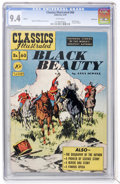 Golden Age (1938-1955):Classics Illustrated, Classics Illustrated #60 Black Beauty - First Edition - Vancouverpedigree (Gilberton, 1949) CGC NM 9.4 White pages....