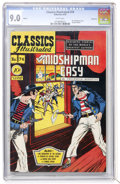 Golden Age (1938-1955):Classics Illustrated, Classics Illustrated #74 Mr. Midshipman Easy - First Edition -Vancouver pedigree (Gilberton, 1950) CGC VF/NM 9.0 White pages....