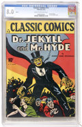 Golden Age (1938-1955):Classics Illustrated, Classic Comics #13 Dr. Jekyll and Mr. Hyde - First Edition(Gilberton, 1943) CGC VF 8.0 Cream to off-white pages....