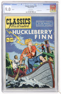 Golden Age (1938-1955):Classics Illustrated, Classic Comics #19 Huckleberry Finn - HRN 60 - Vancouver pedigree (Gilberton, 1949) CGC VF/NM 9.0 White pages....