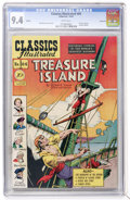 Golden Age (1938-1955):Classics Illustrated, Classics Illustrated #64 Treasure Island - First Edition -Vancouver pedigree (Gilberton, 1949) CGC NM 9.4 White pages....