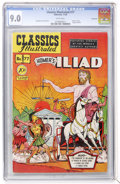 Golden Age (1938-1955):Classics Illustrated, Classics Illustrated #77 Homer's Iliad - First Edition - Vancouver pedigree (Gilberton, 1950) CGC VF/NM 9.0 White pages....