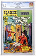 Golden Age (1938-1955):Classics Illustrated, Classics Illustrated #76 Prisoner of Zenda - First Edition -Vancouver pedigree (Gilberton, 1950) CGC VF/NM 9.0 White pages....