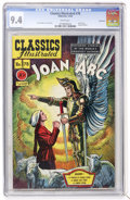 Golden Age (1938-1955):Classics Illustrated, Classics Illustrated #78 Joan of Arc - First Edition - Vancouver pedigree (Gilberton, 1950) CGC NM 9.4 White pages....