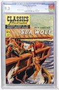 Golden Age (1938-1955):Classics Illustrated, Classics Illustrated #85 Sea Wolf - First Edition - Vancouver pedigree (Gilberton, 1951) CGC NM- 9.2 White pages....
