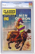 Golden Age (1938-1955):Classics Illustrated, Classics Illustrated #88 Men of Iron - First Edition - Vancouverpedigree (Gilberton, 1951) CGC NM 9.4 White pages....