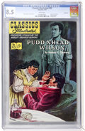 Golden Age (1938-1955):Classics Illustrated, Classics Illustrated #93 Pudd'nhead Wilson - First Edition -Vancouver pedigree (Gilberton, 1952) CGC VF+ 8.5 White pages....