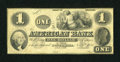 Obsoletes By State:Indiana, Dover Hill, IN- American Bank $1 Nov. 1, 1856. ...