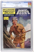 Golden Age (1938-1955):Classics Illustrated, Classics Illustrated #96 Daniel Boone - First Edition - Vancouverpedigree (Gilberton, 1952) CGC FN/VF 7.0 White pages....