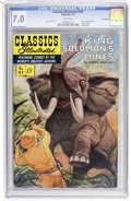 Golden Age (1938-1955):Classics Illustrated, Classics Illustrated #97 King Solomon's Mines - First Edition -Vancouver pedigree (Gilberton, 1952) CGC FN/VF 7.0 White pages...