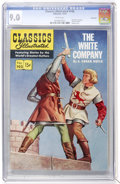 Golden Age (1938-1955):Classics Illustrated, Classics Illustrated #102 The White Company - First Edition -Vancouver pedigree (Gilberton, 1952) CGC VF/NM 9.0 White pages....