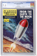 Golden Age (1938-1955):Science Fiction, Classics Illustrated #105 From the Earth to the Moon - FirstEdition - Vancouver pedigree (Gilberton, 1953) CGC VF- 7.5 White...
