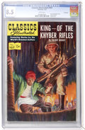 Golden Age (1938-1955):Classics Illustrated, Classics Illustrated #107 King of the Khyber Rifles - First Edition- Vancouver pedigree (Gilberton, 1953) CGC VF+ 8.5 White p...