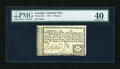 Colonial Notes:Georgia, Georgia 1776 Sterling Issue 6d PMG Extremely Fine 40....