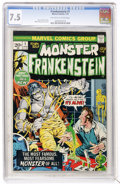 Bronze Age (1970-1979):Horror, Frankenstein #1 (Marvel, 1973) CGC VF- 7.5 Off-white to whitepages....