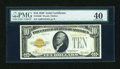 Small Size:Gold Certificates, Fr. 2400 $10 1928 Gold Certificate. PMG Extremely Fine 40.. ...