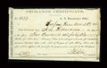 Confederate Notes:Group Lots, Bonham, TX- $246 Exchange Certificate Dec. 26, 1864.. ...
