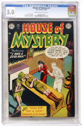 Golden Age (1938-1955):Horror, House of Mystery #2 (DC, 1952) CGC VG/FN 5.0 Cream to off-whitepages....