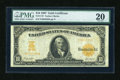 Large Size:Gold Certificates, Fr. 1172 $10 1907 Gold Certificate PMG Very Fine 20....