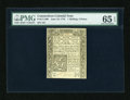 Colonial Notes:Connecticut, Connecticut June 19, 1776 1s/3d Uncancelled PMG Gem Uncirculated 65EPQ....
