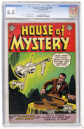 Golden Age (1938-1955):Horror, House of Mystery #25 (DC, 1954) CGC FN+ 6.5 Cream to off-whitepages....