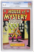 Golden Age (1938-1955):Horror, House of Mystery #19 (DC, 1953) CGC FN+ 6.5 Light tan to off-whitepages....
