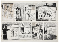 Wilson McCoy - The Phantom Sunday Comic Strip Original Art dated 5-22-55 (King Features Syndicate, 1955)