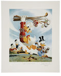 "Original Comic Art:Miscellaneous, Carl Barks - ""Flubbity Dubbity Duffer"" Miniature Lithograph LimitedEdition Print #14/595 (Another Rainbow, 1999).... (Total: 2 Items)"