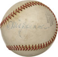 Autographs:Baseballs, 1950's Tris Speaker Signed Baseball....