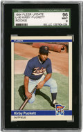 Baseball Cards:Singles (1970-Now), 1984 Fleer Update Kirby Puckett # SGC 96 Mint 9....