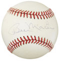 Autographs:Bats, Billy Martin Single Signed Baseball....