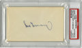 Autographs:Index Cards, Hank Greenberg PSA Authentic Index Card....