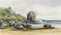 Western:20th Century, JOHN JOSEPH IVEY (British/American, 1842-1910). At the Golden Gate, San Francisco. Watercolor on paper. 6-3/4 x 11-1/2 i...