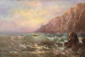 Western:20th Century, CHARLES HENRY HARMON (American, 1859-1936). Coastal Sunset. Oil on board. 16 x 24 inches (40.6 x 61.0 cm). Signed lower ...