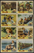 "Movie Posters:Adventure, Walk Into Hell (Patric, 1957). Lobby Card Set of 8 (11"" X 14"").Adventure.... (Total: 8 Items)"