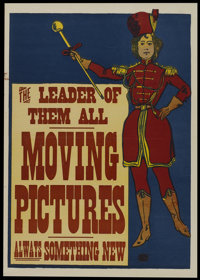 "Moving Pictures (Edison Manufacturing Co., Circa 1903). Poster (20"" X 28""). Short Subject"