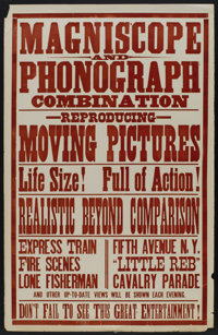 "The Little Reb (Edison Manufacturing Co., Circa 1900). One Sheet (28"" X 44""). Short Subject"