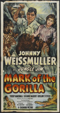 "Movie Posters:Adventure, Mark of the Gorilla (Columbia, 1950). Three Sheet (41"" X 81"").Adventure...."