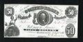 Confederate Notes:1861 Issues, T8 PF-7 $50 1861. Stark white paper is a hallmark of this $50 that escaped all signs of circulation. This very scarce Fricke...