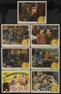 "The Canterville Ghost (MGM, 1944). Title Lobby Card (11"" X 14"") and Lobby Cards (6) (11"" X 14""). Com..."