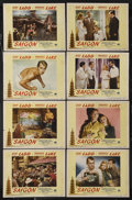 "Movie Posters:Drama, Saigon (Paramount, 1948). Lobby Card Set of 8 (11"" X 14""). Drama. Starring Alan Ladd, Veronica Lake, Douglas Dick, Wally Cas... (Total: 8 Items)"