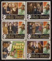 """Dick Tracy (RKO, 1945). Title Lobby Card (11"""" X 14"""") and Lobby Cards (5) (11"""" X 14""""). Crime.... (Tot..."""