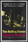 "Movie Posters:Rock and Roll, Gimme Shelter (20th Century Fox, 1970). One Sheet (27"" X 41""). Rockand Roll Concert Film. Starring The Rolling Stones. Dire..."