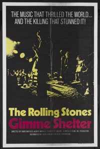 """Gimme Shelter (20th Century Fox, 1970). One Sheet (27"""" X 41""""). Rock and Roll Concert Film. Starring The Rollin..."""