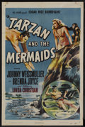 "Movie Posters:Adventure, Tarzan and the Mermaids (RKO, 1948). One Sheet (27"" X 41"").Adventure. Starring Johnny Weissmuller, Brenda Joyce, Linda Chri..."