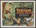 "Movie Posters:Adventure, Tarzan's Hidden Jungle (RKO, 1955). Half Sheet (22"" X 28"") Style A.Adventure. Starring Gordon Scott, Vera Miles, Peter van ..."