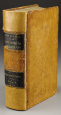 Military & Patriotic:Civil War, The Rise and Fall of the Confederate Government, Volume 1 Leather-Bound Book Owned by Confederate Surgeon Major Samuel...