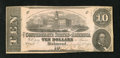 Confederate Notes:1862 Issues, T52 PF-9IB $10 1862 Inverted Back.. ...