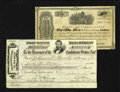 Confederate Notes:Group Lots, Trans Mississippi Post Office Department Check for $1132.21 and aCertificate of Deposit for Treasury Notes April 2, 1864. T...(Total: 2 items)